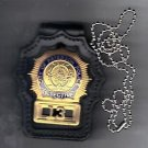 Paterson Police (NJ) Detective Badge Neck Hanger with chain (Badge Not Included)