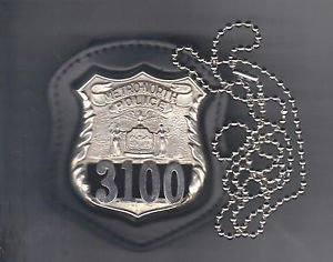 NYS Metro Police Officer Badge CutOut Neck Hanger w/Chain - (Badge Not Included)