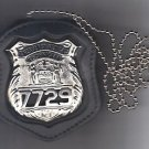 NYS EMT Police Officer Badge CutOut Neck Hanger w/Chain - (Badge Not Included)