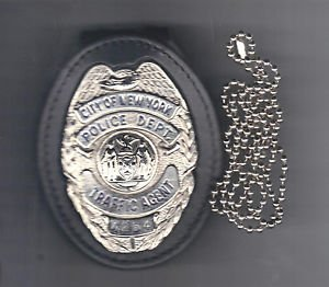 NYPD Traffic Agent Badge CutOut Neck Hanger/Belt Clip Combo (Badge Not Included)