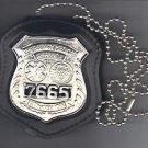 NYC EMS Police Style Badge Cut-Out Neck Hanger w/Chain - (Badge Not Included)