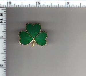 Saint Patrick's Day Shamrock Pin - Used by Police & Fire Depts like NYPD & FDNY