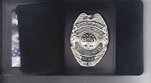 NYPD-Style-Traffic Agent Teardrop Shield/ID Wallet (Badge Not Included)