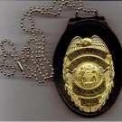 NYPD School Safety Badge CutOut Neck Hanger/Belt Clip Combo (Badge Not Included)