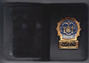 NYS Senior Court Officer Cut-Out Badge Shield/ID Book Wallet (Badge Not Included
