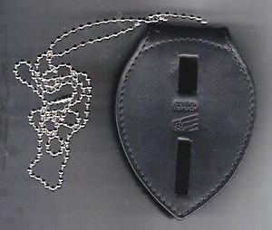 Large Generic Teardrop Police or Fire Badge Belt Clip/Neck Hanger (No Badges)