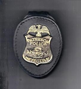 Paterson Police (NJ) New Detective Badge Cut-Out Belt Clip (Badge Not Included)