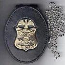 Paterson Police (NJ) New Detective Badge Large Neck Hanger/Belt Clip (No Badge)