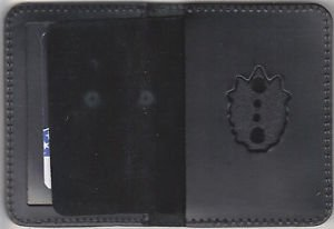 NYPD-Style-Captain Plain Mini Badge Wallet (mini Badge Not Included)