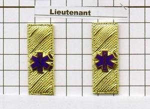 Emergency Medical Service - Lieutenant Epaulet Brass Set of 2 - Gold Plated