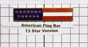 Fire Department - American Flag Citation Bar (pin back)