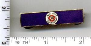 Fire Department - U.S. Coast Guard Service Bar (military clutch Back)