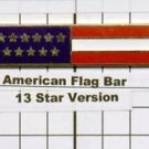 Emergency Medical Service - American Flag Citation Bar (pin back)