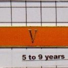 Sheriff's Department 5 to 9 Year Longevity Bar (V) Citation Bar pin back  Orange