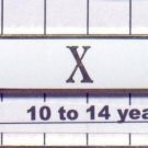 Police Department 10-14 Year Longevity Bar (X) Citation Bar (pin back - White)