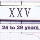 Sheriff's Department 25-29 Year Longevity Bar (XXV) Citation Bar pin back  White