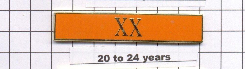 Correction's Dept 20-24 Year Longevity Bar (XX) Citation Bar - pin back - Orange