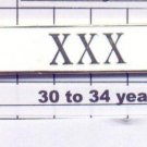 Sheriff's Department 30-34 Year Longevity Bar (XXX) Citation Bar pin back  White
