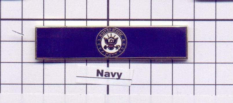 Fire Department - U.S. Navy Service Bar (military clutch Back)