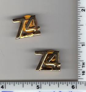 BROOKLYN SOUTH Television Show - NYC 74th Precinct Gold Collar Brass Set