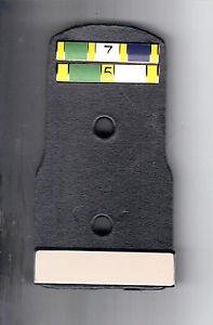 TV/Movie Prop Leather Police Badge Backer w/2 Citation Bars & Blank Nameplate