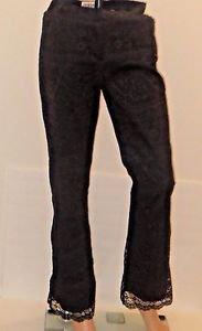 Women's Order by Work Order Boot Cut black Lace Pants Sz2
