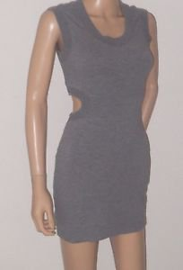 Kardashians Bebe Gray Athletic Material Style Back Cut Out Dress SzXXS