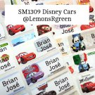 SM1309 Disney Cars Waterproof Name Stickers
