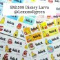 SM1308 Disney Larva Waterproof Name Stickers Korean Animated Cartoon Movie