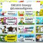SM1303 Snoopy Waterproof Name Stickers Charlie Brown