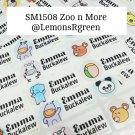 SM1508 Zoo Animal n More Waterproof Name Stickers