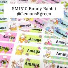 SM1510 Bunny Rabbit Waterproof Name Stickers