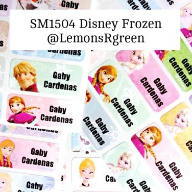 SM1504 Disney Frozen Waterproof Name Stickers