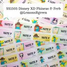 SS1505 Disney XD Phineas & Ferb Waterproof Name Stickers