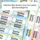 LM1322 Mix Border Iron On Labels