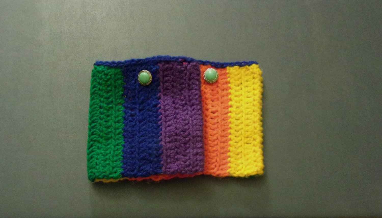 OSFM Rainbow Gay Pride LGBT Boot Toppers/Boot Cuffs with Faux Turquoise Button