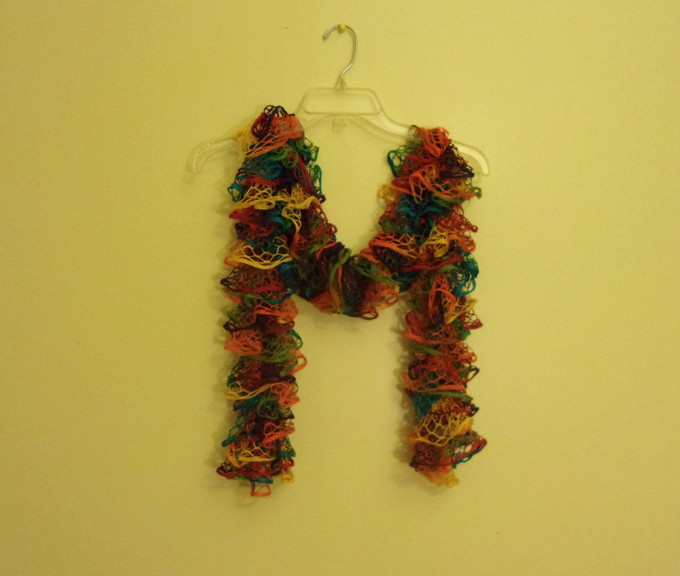 Women's/Teen Ruffle Scarf Scarves Red, Orange, Yellow, Turquoise Blue, Lime Green, and Purple Multi