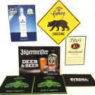 Mix Lot of Thick Quality Bar Mats and Signs - Nice Condition - Inc Patron & More
