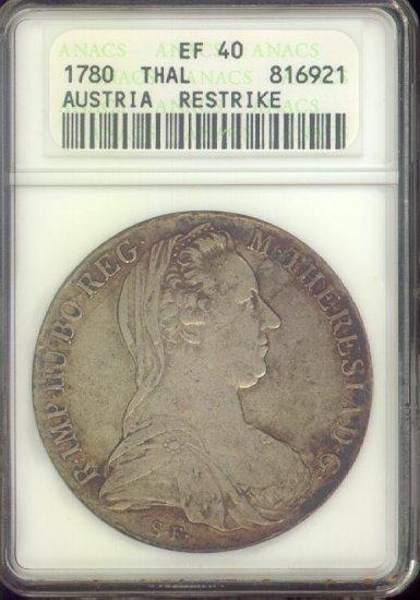 1780 THAL, Austria Restrike, EF40