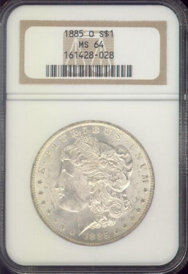 1885-O Morgan Silver Dollar, MS64