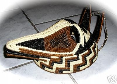 Wounaan & Embera Woven Indian Dog Mask
