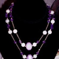 Lavander Dreams - Designer Handcrafted Necklace