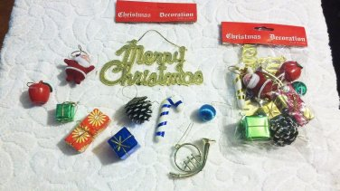 $48 (12) 10 piece Xmas Ornament Sets $3.99 each retail New Bagged Nice Free Ship