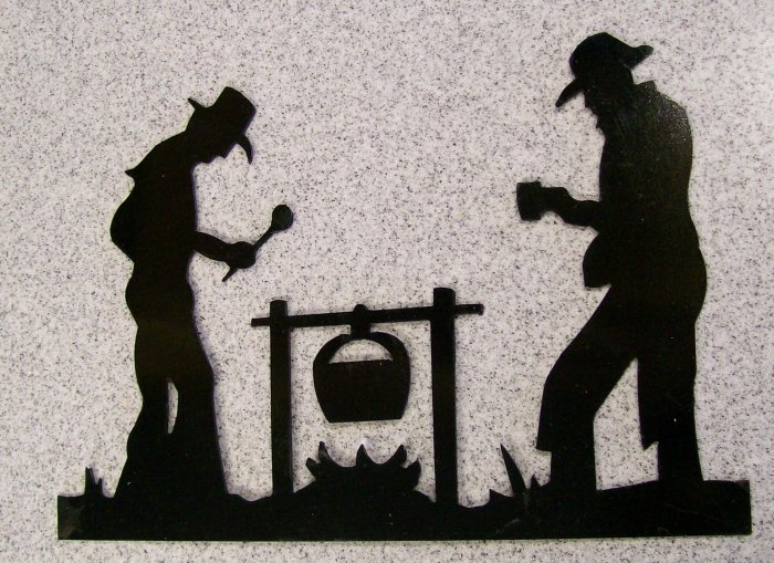 Two Cowboys and a fire