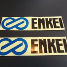 2pc ENKEI Stickers Reflective Racing Decals for JDM Cars