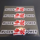 4pc MUGEN Power Stickers Decals for JDM Honda