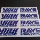 Volk Racing Rays Engineering Replacement Wheel Decals Stickers