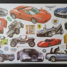 14 Pc Exotic Sports Car & Truck Reusable Wall Sticker Decal Set