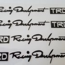 4pc TRD Stickers Decals for JDM Cars