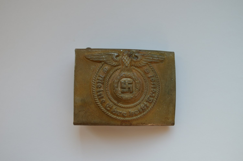 WWII THE GERMAN BUCKLE WAFFEN SS STEEL